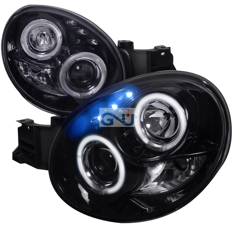 Subaru Impreza  2002-2003 Gloss Black  Projector Headlights Smoke Lens