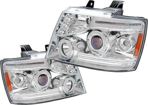 Chevrolet Suburban 2007-2008 Chrome Projector Headlights