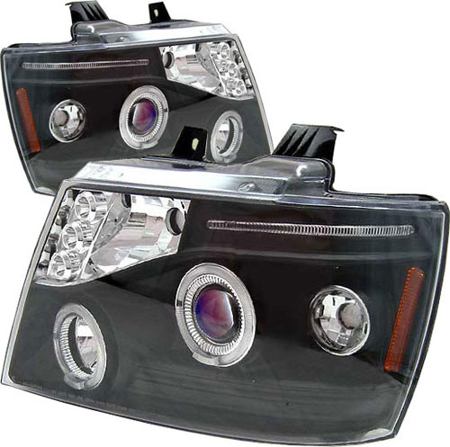 Chevrolet Suburban 2007-2008 Black Projector Headlights