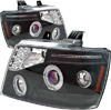 Chevrolet Avalanche 2007-2008 Black Projector Headlights
