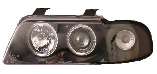 Audi A4 95-00 Black One-Piece Projector Headlights