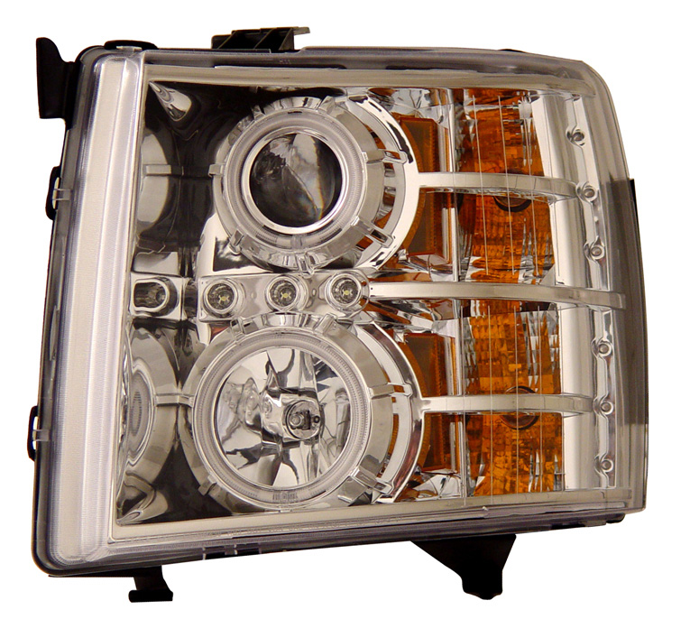Chevrolet Silverado 2007-2008 Chrome Projector Headlights