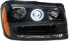 Chevrolet Trailblazer 2002-2005 Black Headlights