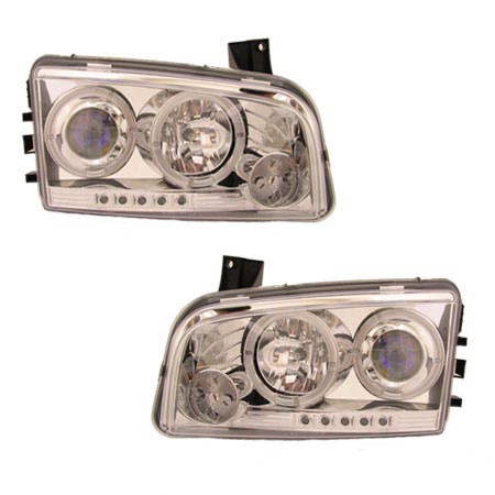 Dodge Charger 2005-2010 Chrome Projector Headlights