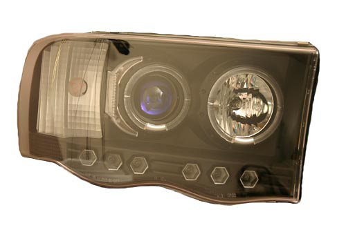 Dodge Ram 02-05 Black Projector Headlights