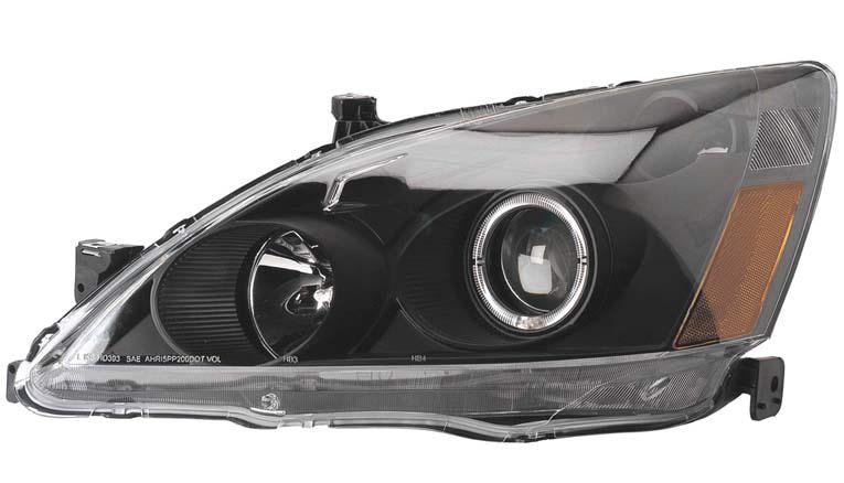 Honda Accord 2003-2006 Projector Head Lights (Black)