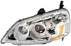 2002 Civic  2/4D Projector Headlights w/Rim Chrome/Clear