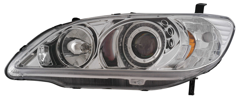 Honda Civic 2004 Chrome Projector Headlights