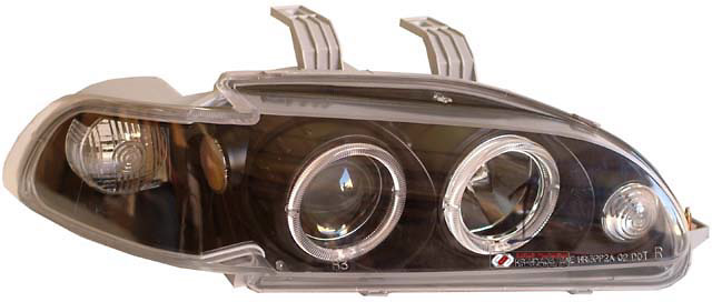 Honda Civic 1992-1995 1 Piece Dual Halo Projector Headlights Black