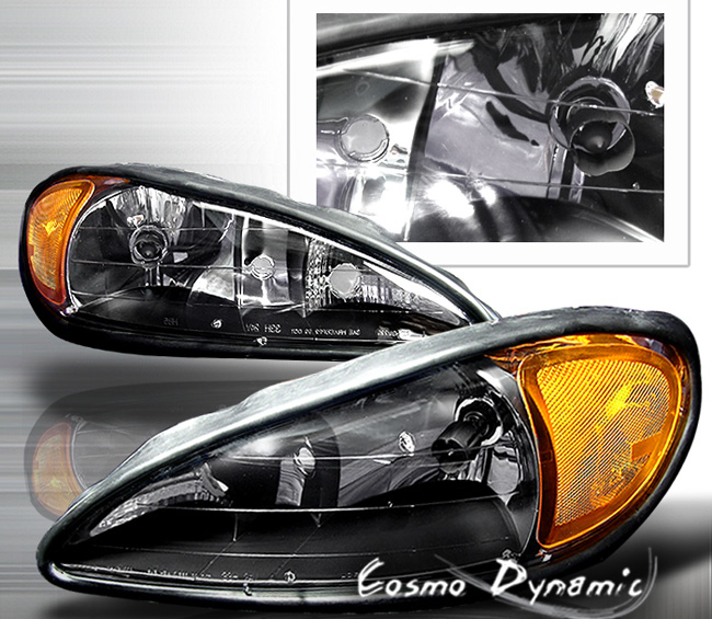 Pontiac Grand Am 1999-2006 Black Headlights