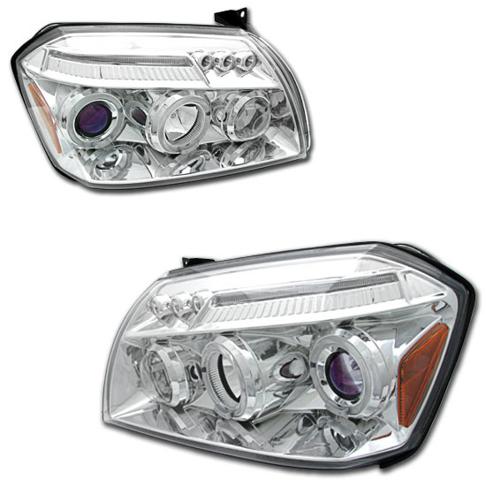 Dodge Magnum 2005-2006 Chrome Projector Headlights