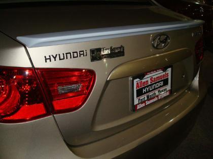 Hyundai Elantra   2007-2010 Lip Style Rear Spoiler - Painted