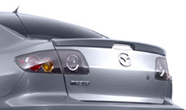 Mazda Mazda3   2003-2009 Lip Style Rear Spoiler - Painted