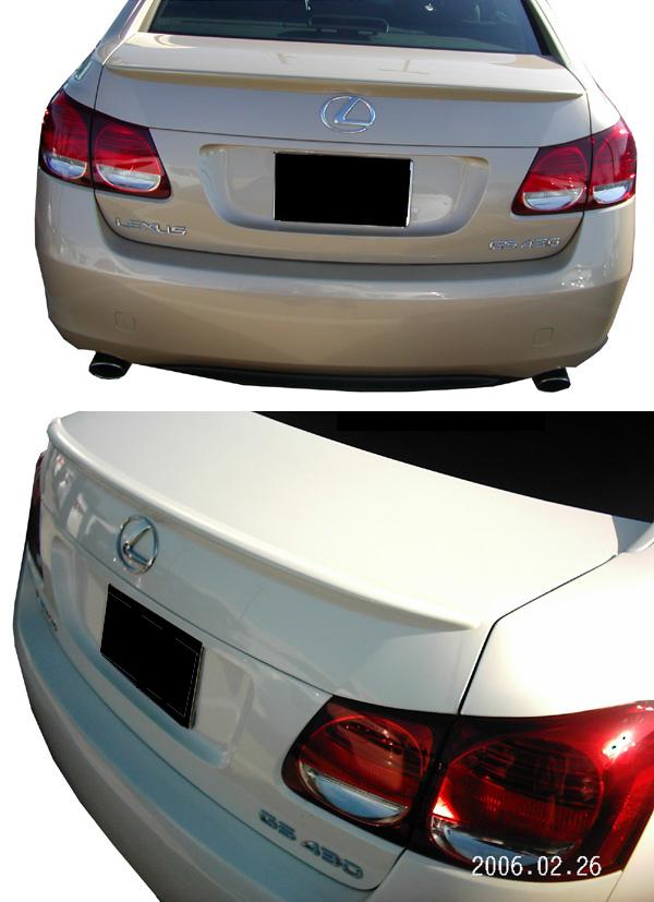 Lexus GS300   2006-2011 Lip Style Rear Spoiler - Painted