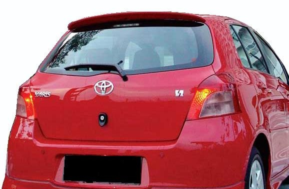 Toyota  Yaris   2006-2011 Roof Rear Spoiler - Painted