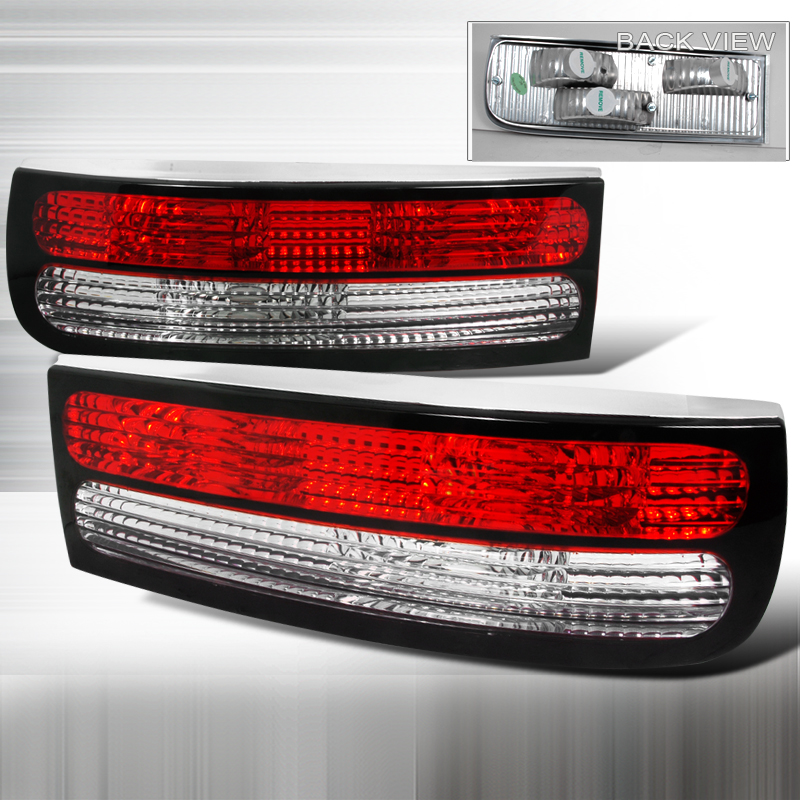 Nissan 300ZX  1990-1996 Red / Clear Euro Tail Lights