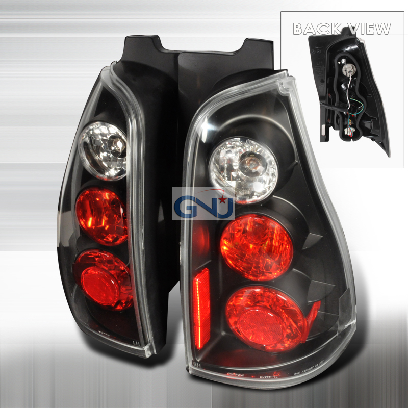Toyota 4 Runner  2003-2005 Black Euro Tail Lights