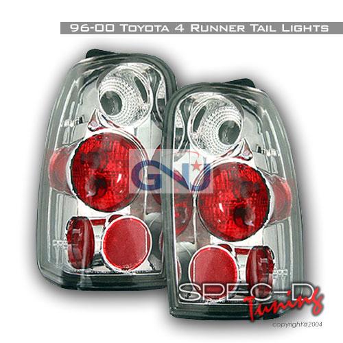 Toyota 4 Runner  1996-2000 Chrome Euro Tail Lights