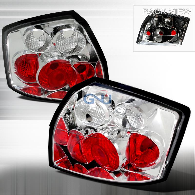 audi a4 2002 2005 chrome euro tail lights by spec d lt. Black Bedroom Furniture Sets. Home Design Ideas