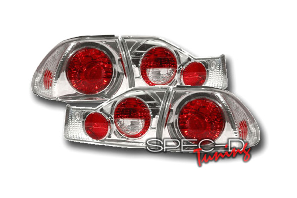 Honda Accord  1998-2000 Chrome Euro Tail Lights
