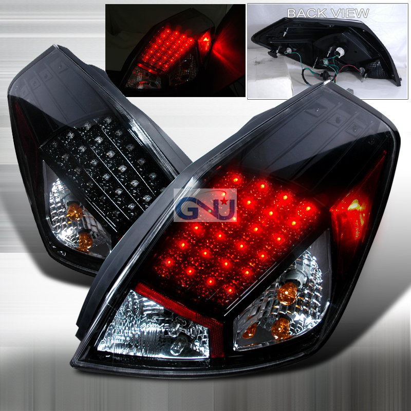 Nissan Altima 4 Door 2007 2009 Black Led Tail Lights By