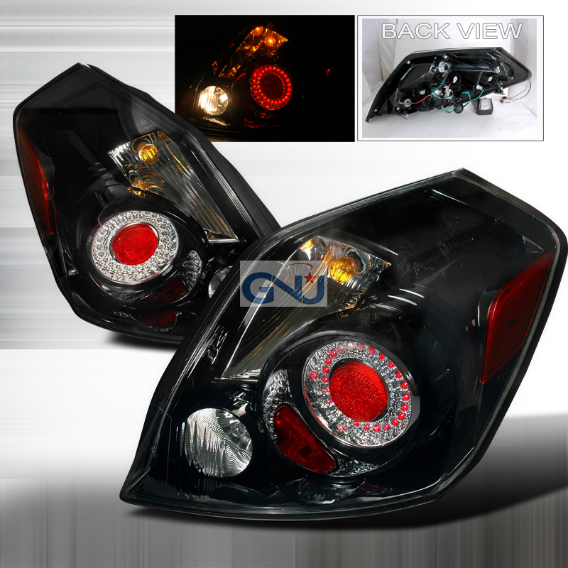 Nissan Altima  2007-2009 Black LED Tail Lights