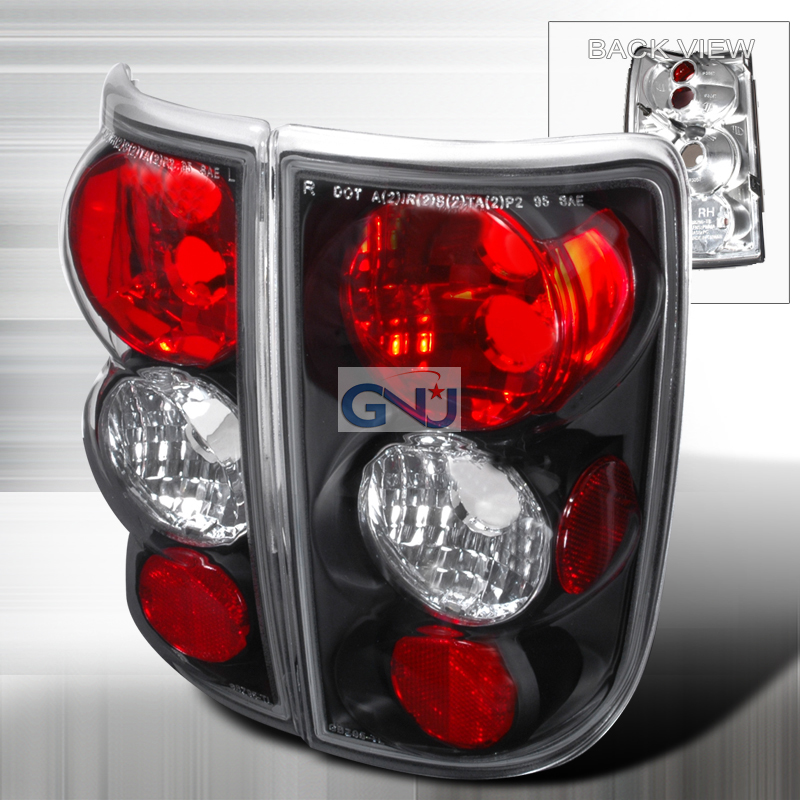 Chevrolet Blazer  1995-2004 Black Euro Tail Lights