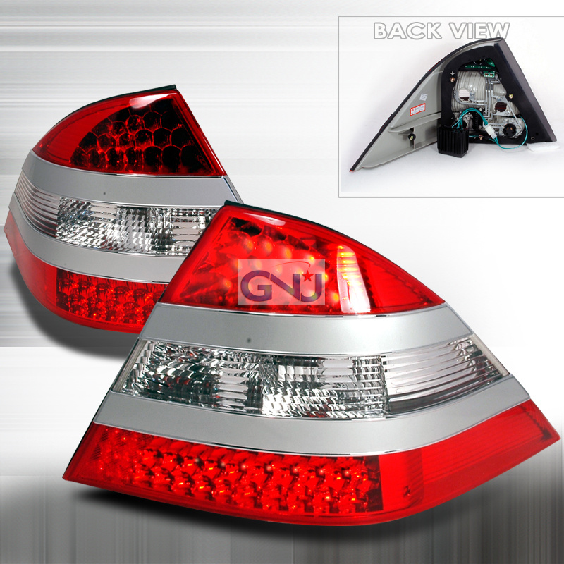 Mercedes Benz S Class W220 2000-2005 Red LED Tail Lights