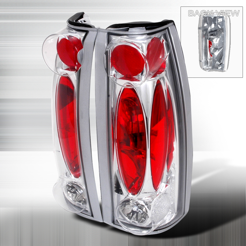 Cadillac Escalade  1999-2000 Chrome Euro Tail Lights