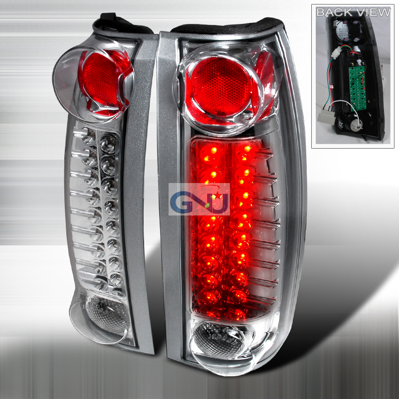 Chevrolet Full Size Pickup 1988-1998 LED Tail Lights -  Chrome