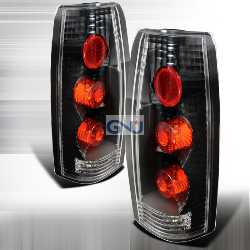 Chevrolet Full Size Pickup   1988-1998 Euro Tail Lights - Black