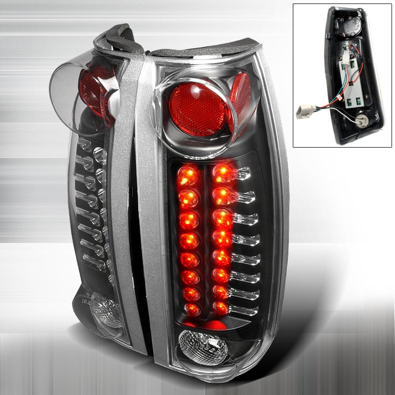 Cadillac Escalade  1999-2000 Black LED Tail Lights