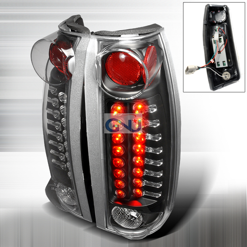 Chevrolet Full Size Pickup  1988-1998 Black LED Tail Lights