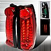1999 Cadillac Escalade   Red LED Tail Lights
