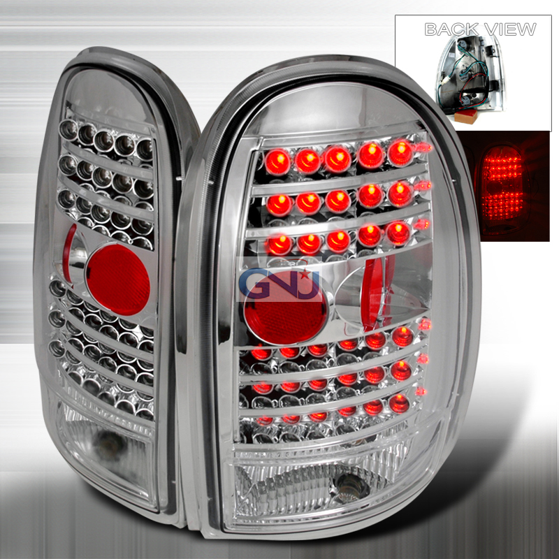Dodge Caravan  1996-2000 Chrome LED Tail Lights
