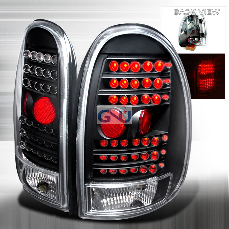 Dodge Caravan  1996-2000 Black LED Tail Lights