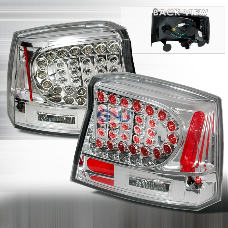 Dodge Charger  2005-2008 Chrome LED Tail Lights