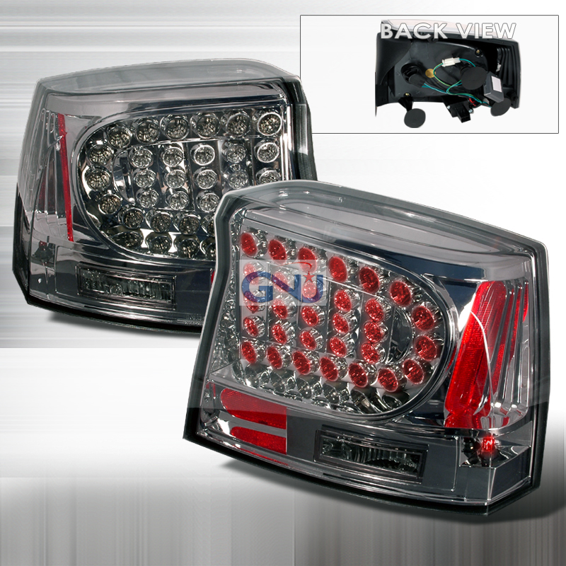 Dodge Charger  2005-2008 Smoke LED Tail Lights
