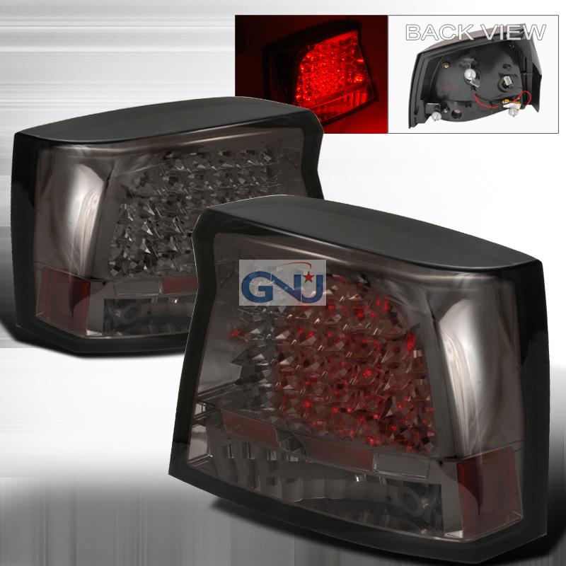 Dodge Charger  2005-2008 Smoke LED Tail Lights