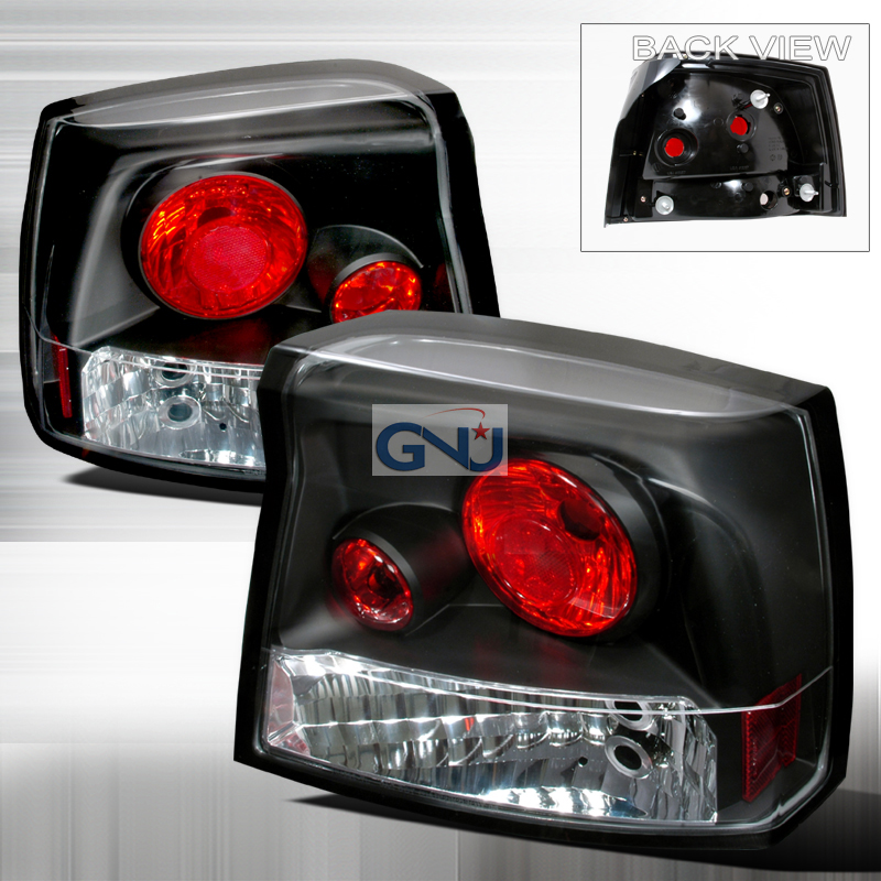 Dodge Charger  2005-2008 Black Euro Tail Lights