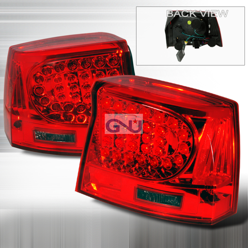 Dodge Charger 2005-2010 LED Tail Lights -  Red Smoke