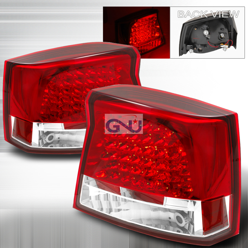 Dodge Charger  2005-2008 Red LED Tail Lights