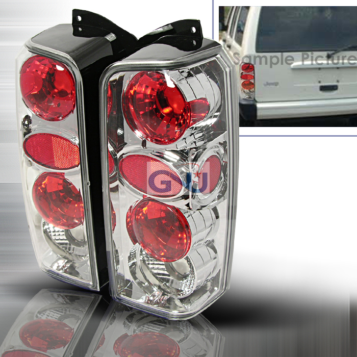 Jeep Cherokee  1997-2001 Chrome Euro Tail Lights