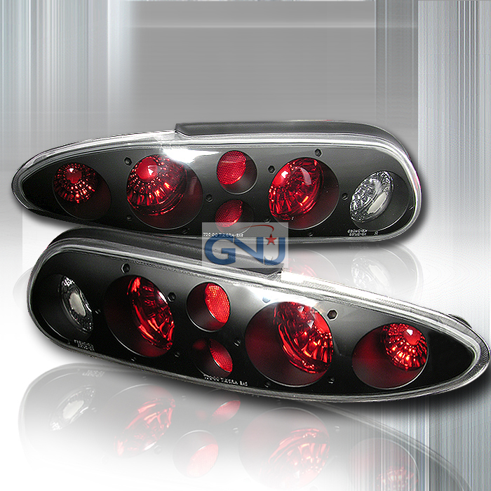 Chevrolet Camaro  1993-2002 Black Euro Tail Lights