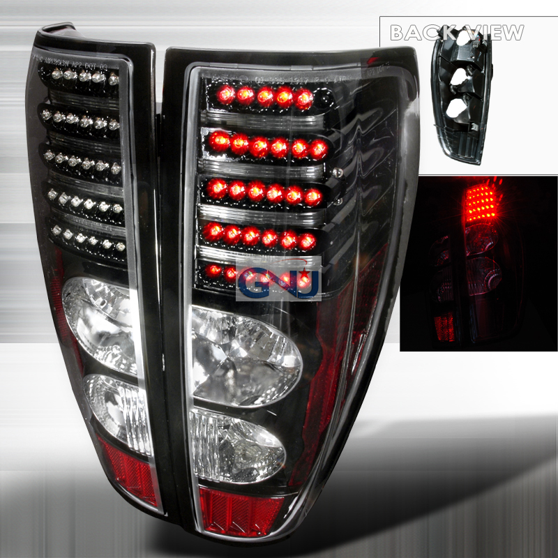 Chevrolet Colorado  2004-2012 Black LED Tail Lights