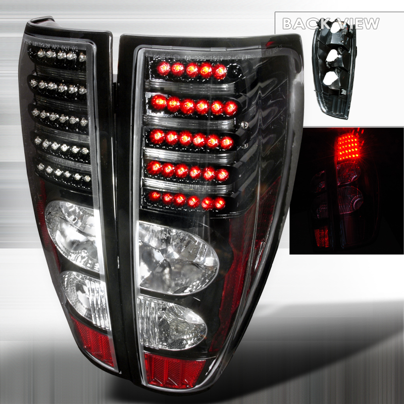 Gmc Canyon  2004-2012 Black LED Tail Lights