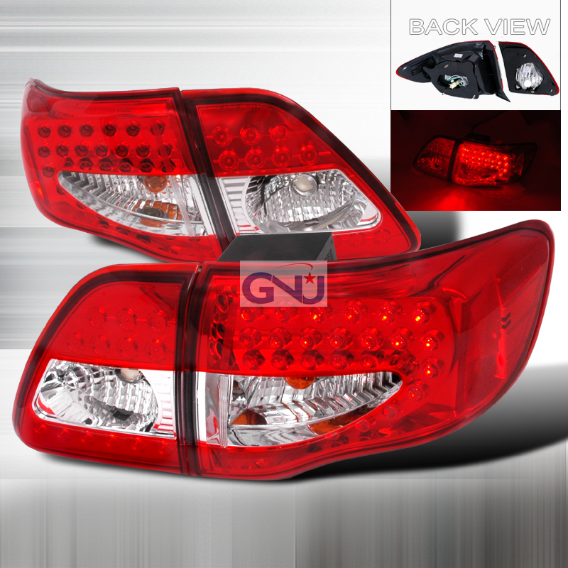 Toyota Corolla  2009-2010 Red LED Tail Lights
