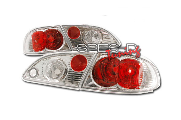 Toyota Corolla  1998-2002 Chrome Euro Tail Lights