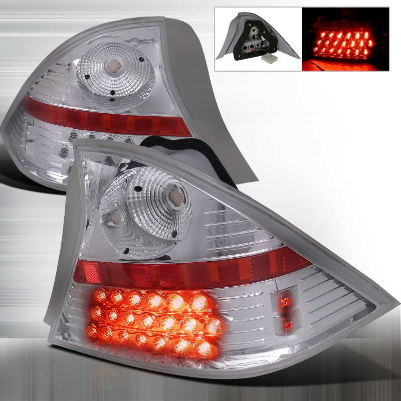 Honda Civic 2 Door 2001-2003 Chrome LED Tail Lights
