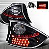 2001 Honda Civic 2 Door  Black LED Tail Lights